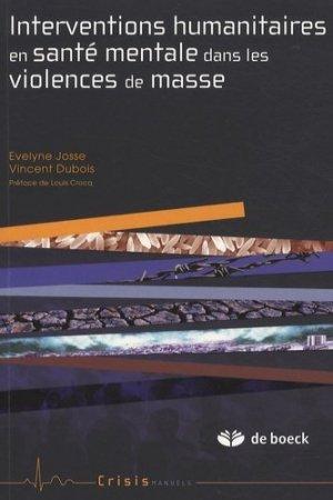 Interventions humanitaires en santé mentale dans les violences de masse - de boeck superieur - 9782804104092 -