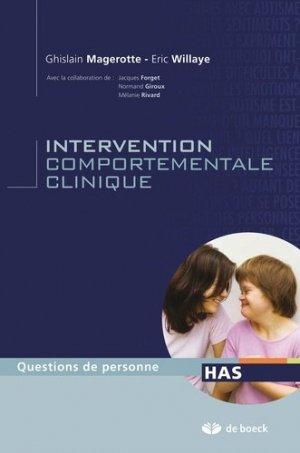 Intervention comportement clinique - de boeck superieur - 9782804117719 -