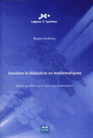 Intuition et déduction en mathématique - eme - 9782806630964 -
