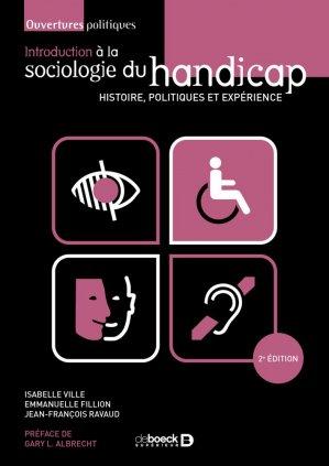Introduction à la sociologie du handicap - de boeck supérieur - 9782807328662 -