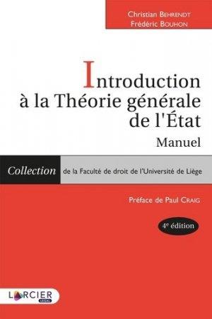 Introduction à la théorie générale de l'Etat. Manuel - Éditions Larcier - 9782807914018 -