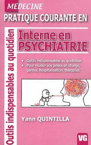 Interne en Psychiatrie - vernazobres grego - 9782818305027 -