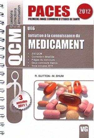 Initiation à la connaissance du médicament UE6 - vernazobres grego - 9782818305201 -