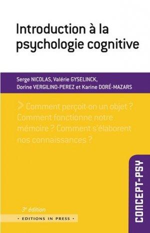 Introduction à la psychologie cognitive - in press - 9782848352855 -