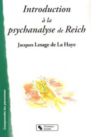 Introduction a la psychanalyse de Reich - chronique sociale - 9782850087745 -