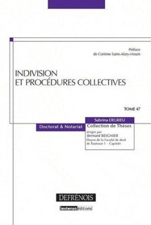 Indivision et procédures collectives - Répertoire Defrénois - 9782856231937 -