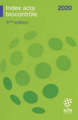 Index Acta biocontrôle 2020 - acta - 9782857943150 -