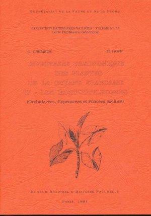 Inventaire taxonomique des plantes de la Guyane française Tome 4 - Les monocotylédones - museum national d'histoire naturelle - 9782865150878 -