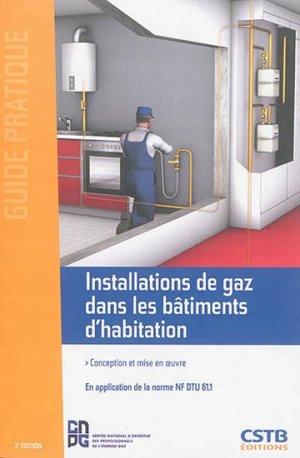 Installations de gaz dans les bâtiments d'habitation - cstb  - 9782868915849 -