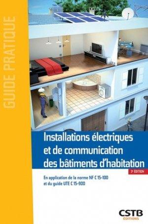 Installations électriques et de communication des bâtiments d'habitation - cstb - 9782868916686 -