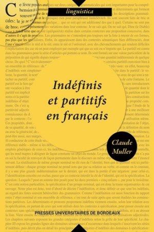 Indéfinis et partitifs en français - presses universitaires de bordeaux - 9791030003574