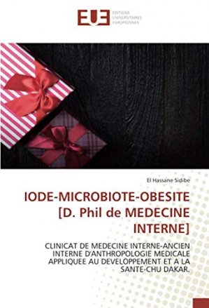 Iode, microbiote, obésité - editions universitaires europeennes - 9786139547951 -