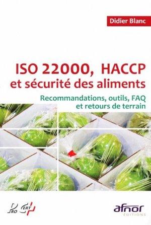 ISO 22000, HACCP et sécurité des aliments - afnor - 9782124651986 -
