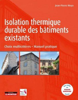 Isolation thermique durable des bâtiments existants - le moniteur - 9782281142945 -