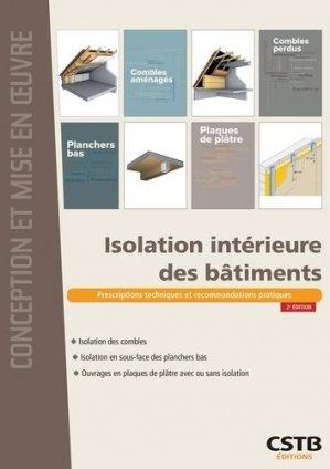 Isolation intérieure des bâtiments - cstb - 9782868916433 -