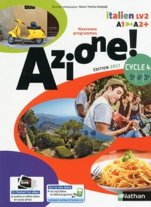 Italien 5e-4e-3e Cycle 4 A1-A2+ Azione ! - Nathan - 9782091738918 -