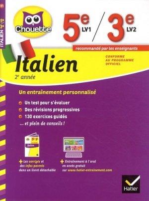 Italien 5e 3e - Hatier - 9782218976223 -