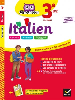 Italien 3e LV2 - hatier - 9782401051126