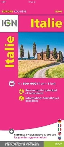 Italie. 1/800 000 - Institut Géographique National - 9782758545811 -