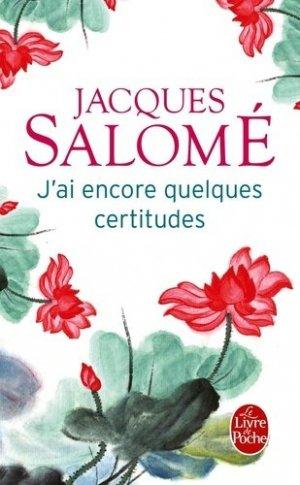 J'ai encore quelques certitudes - le livre de poche - lgf librairie generale francaise - 9782253132097 -