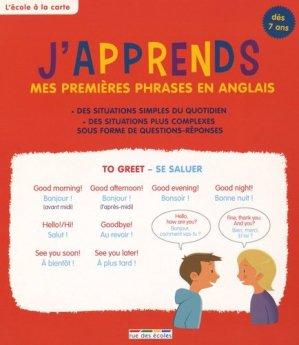 J'apprends mes premières phrases en anglais - Rue des Ecoles - 9782820804525 -