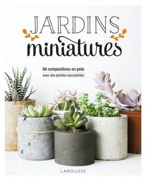 Jardins miniatures avec des plantes succulentes-larousse-9782035943446