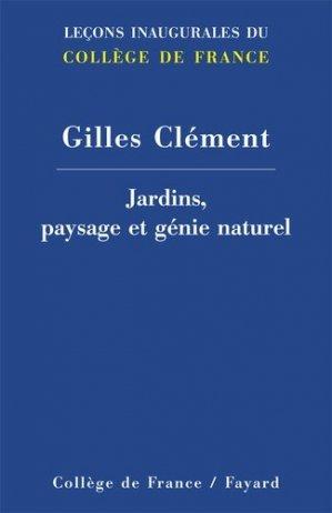Jardins, paysage et génie naturel - fayard - 9782213669045 -