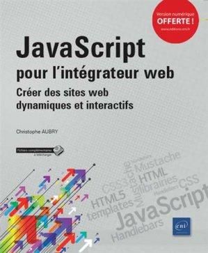 JavaScript pour l'intégrateur web - eni - 9782409015472