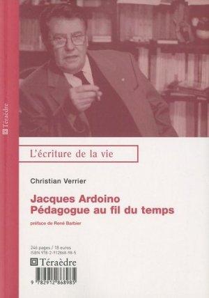Jacques Ardoino - Téraèdre - 9782912868985 -