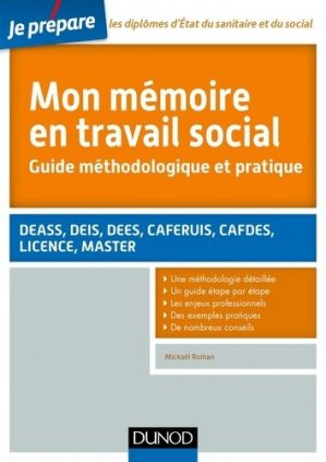Je prépare Mon mémoire en travail social-dunod-9782100745548