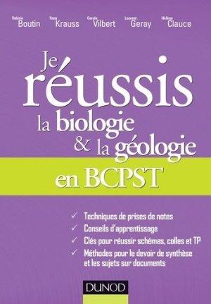 Je réussis la biologie et la géologie en BCPST-dunod-9782100766321