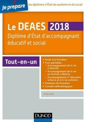 Je prépare le DEAES 2018 - Diplôme d'Etat d'accompagnement éducatif et social - Tout-en-un - dunod - 9782100769896