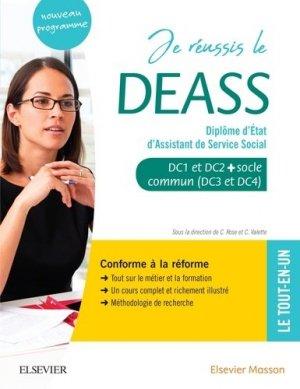 Je réussis le DEASS. Diplôme d'Etat d'assistant de service social - elsevier / masson - 9782294765896 -