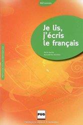 Je lis, j'écris le français - PUG - 9782706114830 -