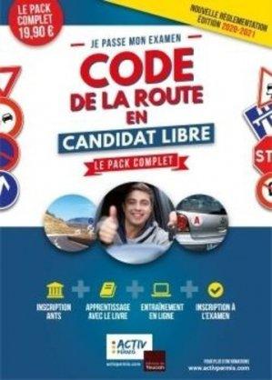 Je passe mon examen code de la route en candidat libre. Le pack complet, Edition 2020-2021 - Editions du Toucan - 9782810009398 -