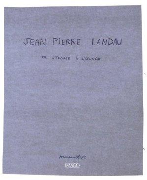 Jean-Pierre Landau ou l'écoute à l'oeuvre - Imago (éditions) - 9782849527139 -