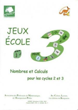 Jeux-Ecole 3 - APMEP - 9782912846907 -