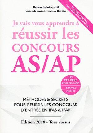 Je Vais Vous Apprendre à Réussir les Concours AS/AP - du 46 - 9791092452389 -
