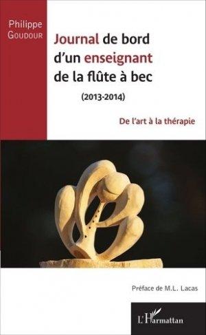 Journal de bord d'un enseignant de la flûte à bec (2013-2014) - l'harmattan - 9782343075488 -