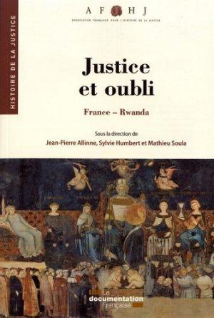 Justice et oubli. France-Rwanda - La Documentation Française - 9782111453920 -