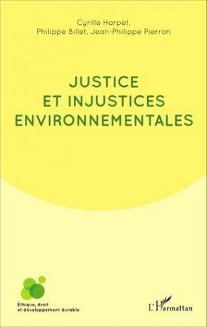 Justice et injustices environnementales - L'Harmattan - 9782343094014 -