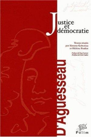 Justice et démocratie. Actes du colloque organisé à Limoges les 21-22 novembre 2002 - presses universitaires de limoges - 9782842873134 -