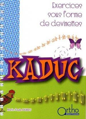Kaduc - ortho  - 9782914121484 -