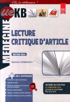 KB / iKB Lecture critique d'article - vernazobres grego - 9782818311981 -