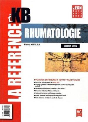 KB / iKB Rhumatologie - vernazobres grego - 9782818313626 -