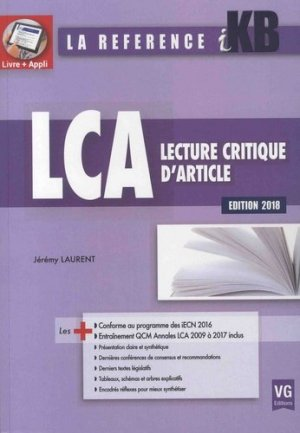KB / iKB Lecture critique d'article 2018 - vernazobres grego - 9782818316597 -