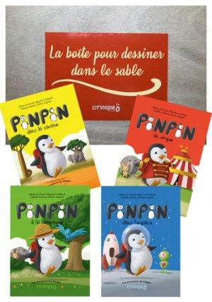 Kit les 4 livres de Pinpin et La boite pour dessiner dans le sable - cit'inspir - 2225804634659 - livre médecine 2020, livres médicaux 2021, livres médicaux 2020, livre de médecine 2021