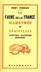 La faune de la France illustrée 4 Hémiptères - delagrave - 9782206005874 -