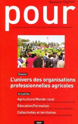 L'univers des organisations professionnelles agricoles - educagri / grep - 2223618947866 -