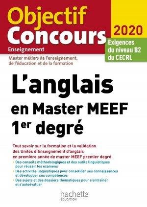 L'anglais en Master MEEF 1er degré 2020 - hachette - 9782017037583 -